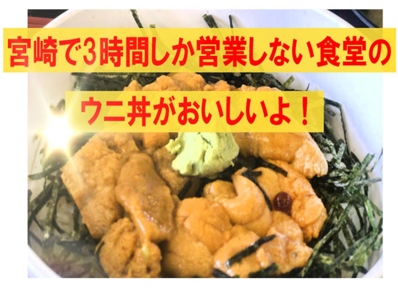 宮崎「渚」ウニ丼