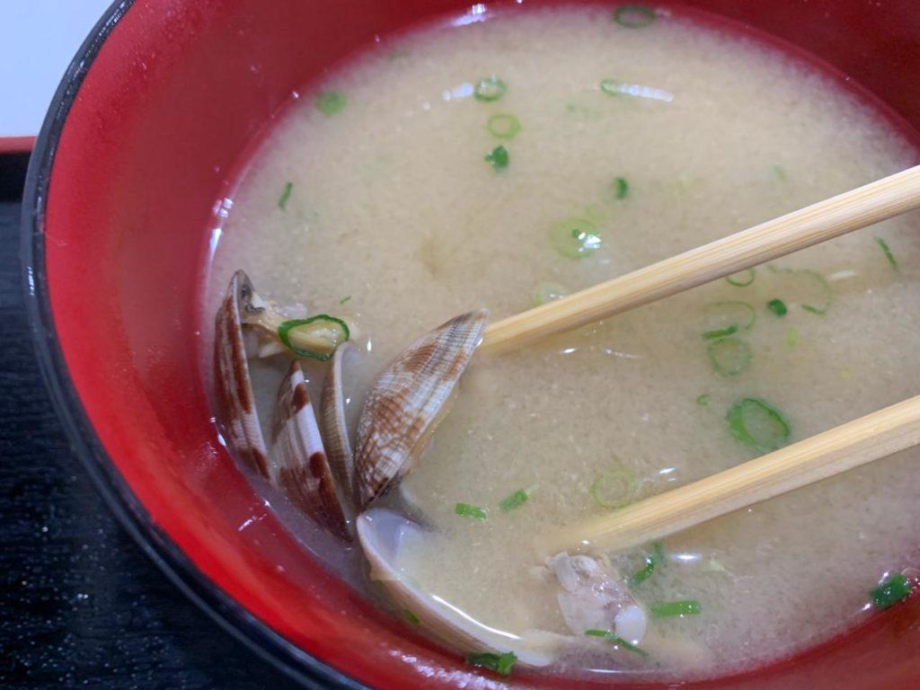 宮崎長谷川水産あさりの味噌汁