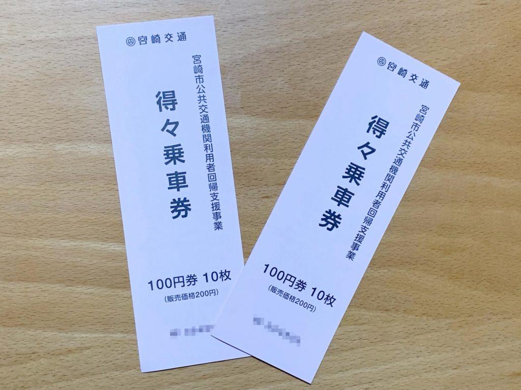 宮崎バス1日乗車券2