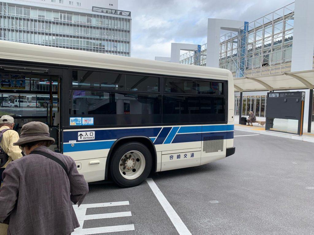 アミュプラザ宮崎からバスに乗る方法1