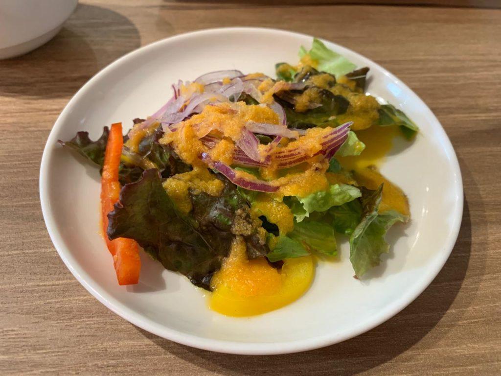 岡崎牧場ステーキ店サラダ