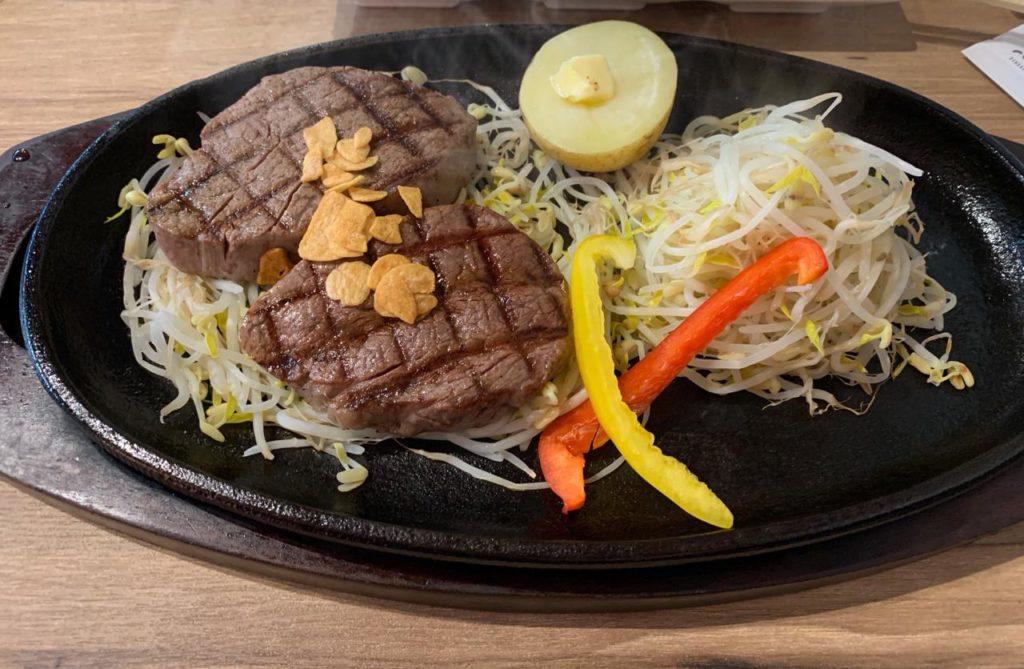 岡崎牧場ステーキ店ヒレ肉