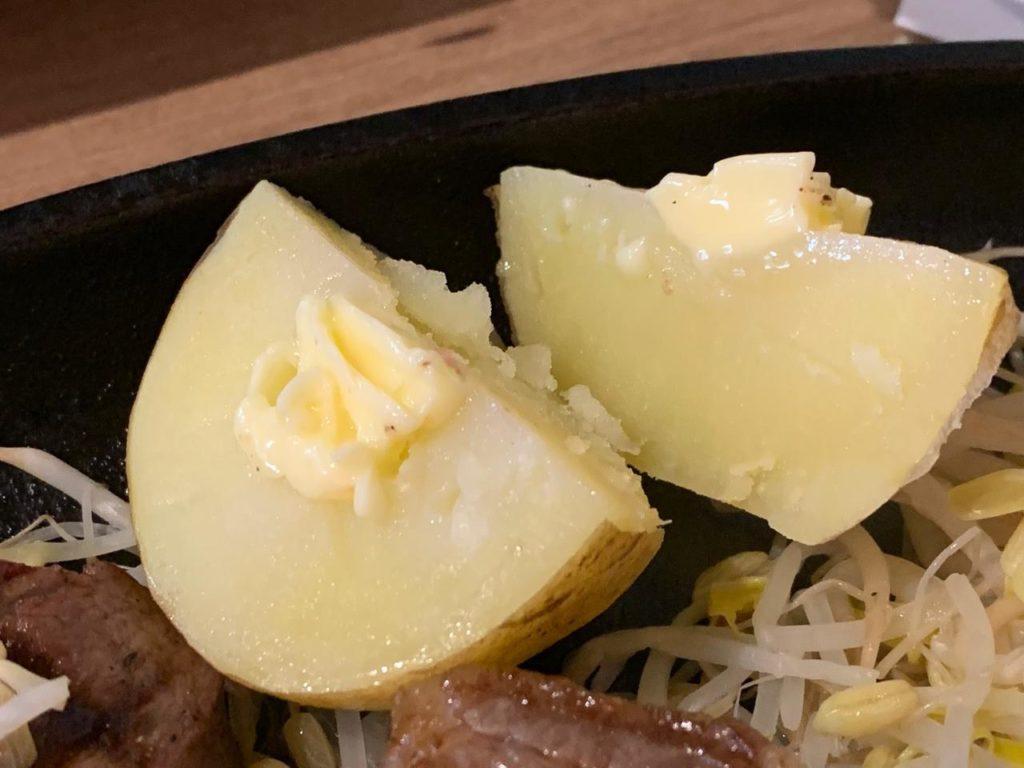 岡崎牧場ステーキ店ジャガイモ